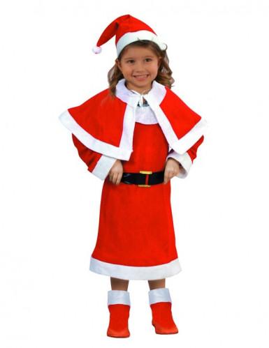 Jultomteklänning med tomteluva för barn