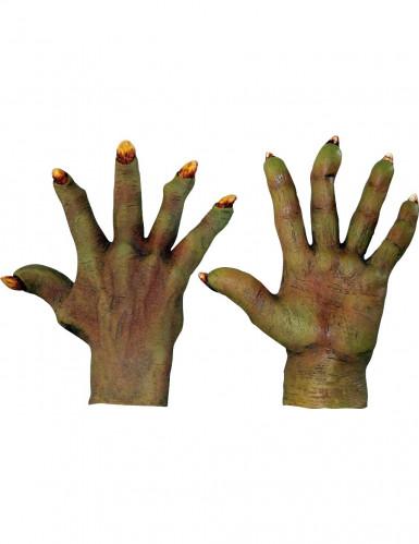 Gröna monsterhänder Vuxen Halloween