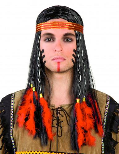Skicklig jägare - Indianperuk  för vuxna