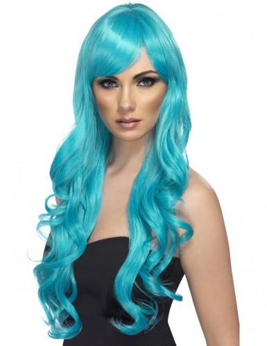 Turkos skönhet - Långhårig peruk för vuxna