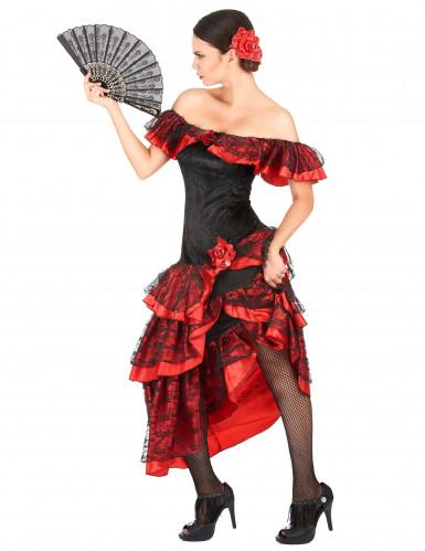 Kostym i rött och svart med inspiration från Andalusien-1