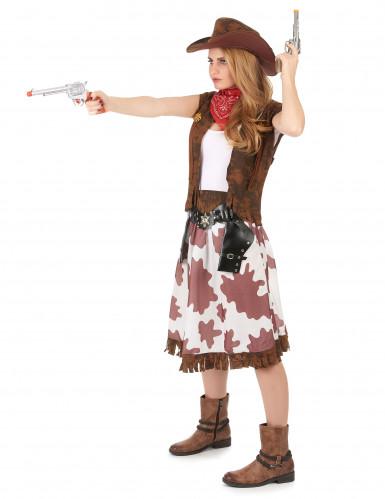 Cowgirl i grann kjol - Maskeraddräkt för vuxna-1