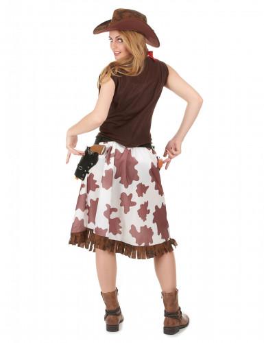 Cowgirl i grann kjol - Maskeraddräkt för vuxna-2