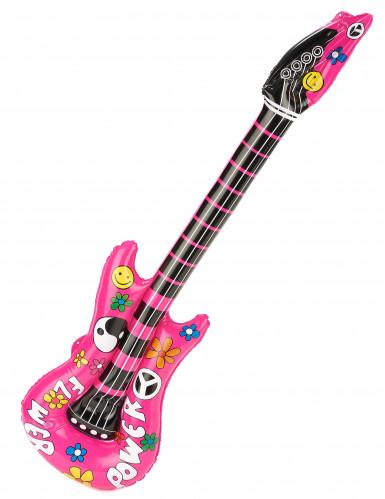 Uppblåsbar rosa gitarr