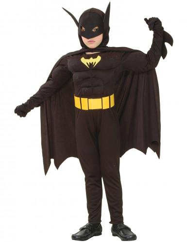Svart superhjälte - Maskeraddräkt för barn till festen