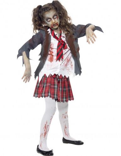 zombieskolflicka - Halloweenkostymer för barn