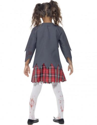 zombieskolflicka - Halloweenkostymer för barn-2