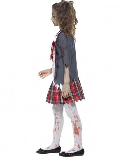 zombieskolflicka - Halloweenkostymer för barn-1