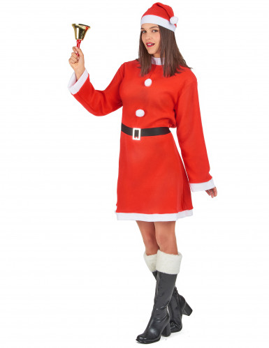 Söt tomtemorsdräkt - Juldräkt för vuxna-1