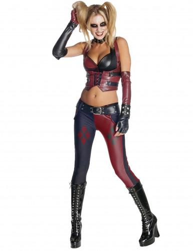 Harley Quinn från Batman Arkham City™- Maskeraddräkt för vuxen