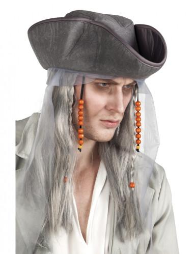 Grå piratperuk vuxen