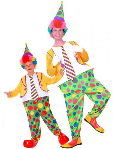 Clowner pardräkt barn & förälder