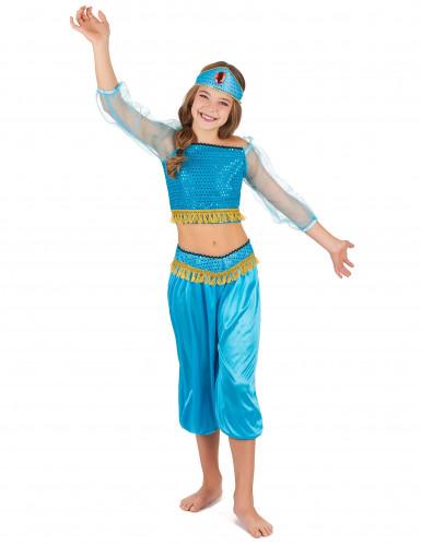 Blå danserska  från tusen och en natt - Maskeraddräkt för barn