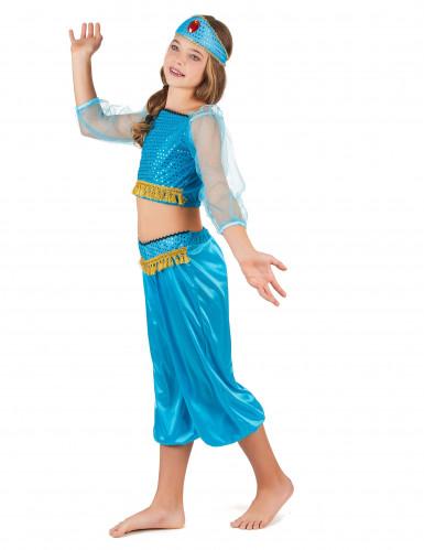 Blå danserska  från tusen och en natt - Maskeraddräkt för barn-1