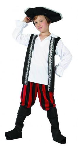 Piratdräkt med dödskalle barn