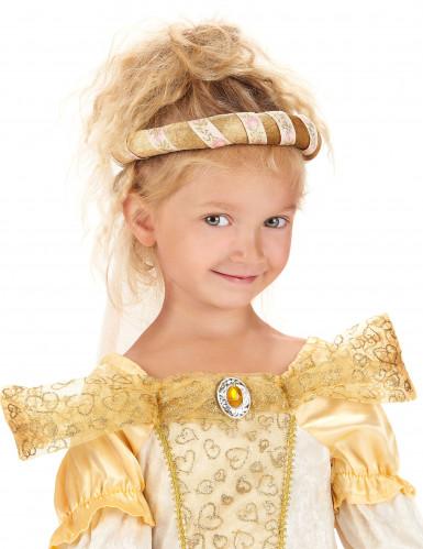 Huvudbonad från medeltiden i guld för barn-2