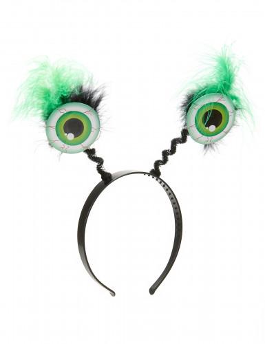 Hårband med gröna ögonglober