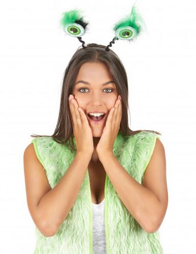 Hårband med gröna ögonglober-1
