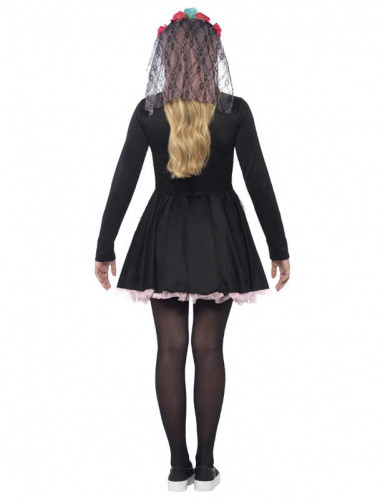 Färgglad Skelett Halloween Maskeraddräkt Tonåring-1