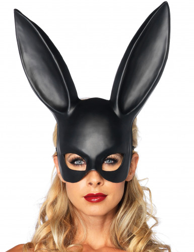Tjusig svart kaninmask för vuxna