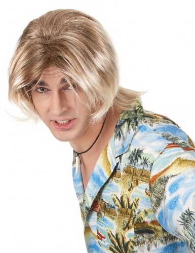 Blond Surfareperuk Vuxen