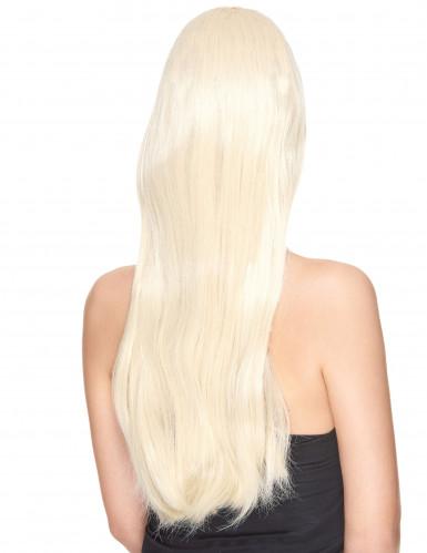 Väldigt lång lyxig blond peruk-1