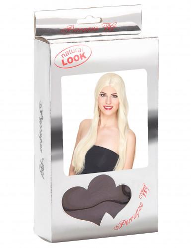 Väldigt lång lyxig blond peruk-2