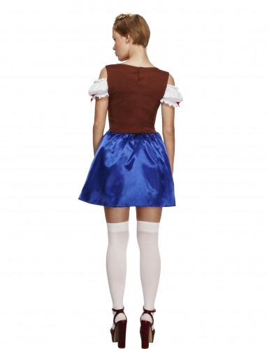 Blå Oktoberfestklänning-2