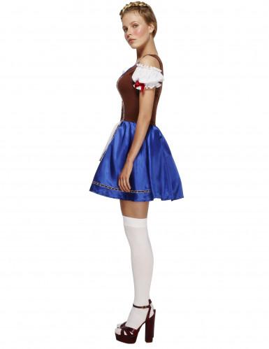 Blå Oktoberfestklänning-1