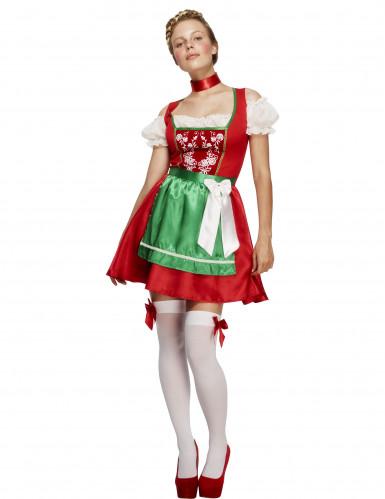 Röd Oktoberfestklänning
