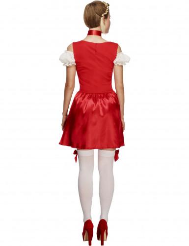 Röd Oktoberfestklänning-2