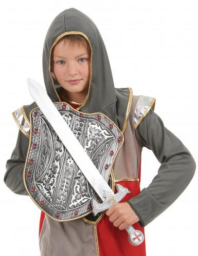 Silver riddarkit svärd ochSköldi plast barn-1
