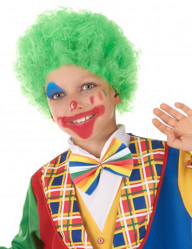 Grön clownperuk barn