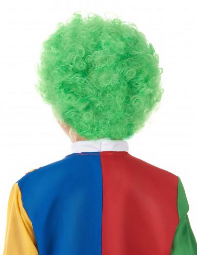 Grön clownperuk barn-1