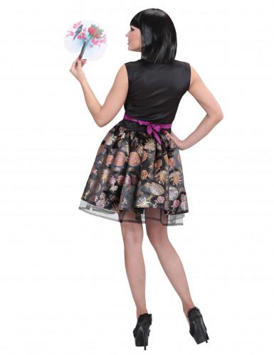 Söt klänning med kinakrage-1
