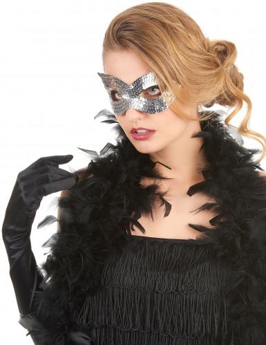 Silverfärgad venetiansk mask