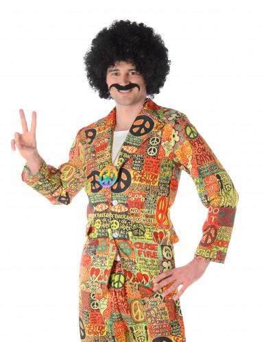 Brokiga Björn - Hippiekostym för vuxna till maskeraden-1
