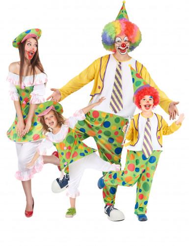 Clown familjedräkt