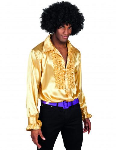 Gyllene discoskjorta för vuxna