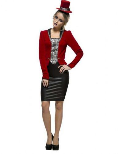 röd kostym dam