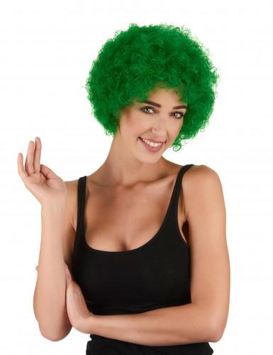 Grön afro/clownperuk standard för vuxna