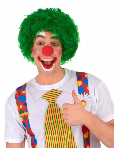 Grön afro/clownperuk standard för vuxna-1