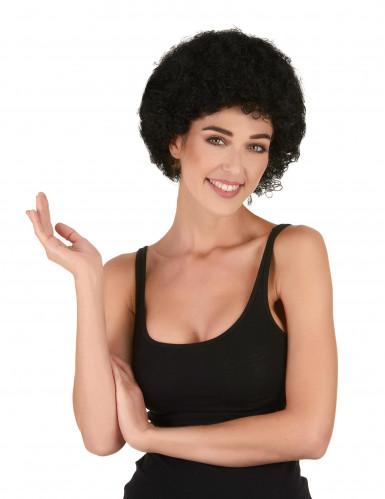 Svart afro/clown peruk standard för vuxna