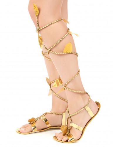 sandaler med snörning