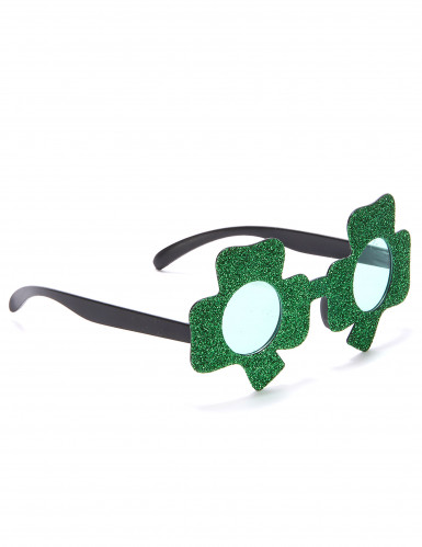 Paljetterade glasögon med fyrklövrar för St Patrick's