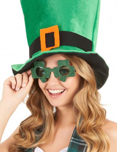 Paljetterade glasögon med fyrklövrar för St Patrick's-1