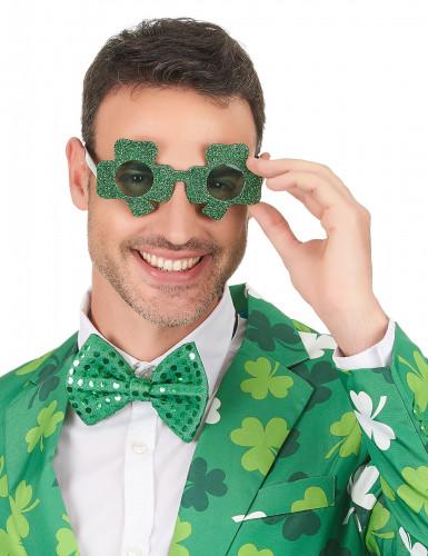 Paljetterade glasögon med fyrklövrar för St Patrick's-2