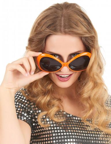 Orange discoglasögon för vuxna-1