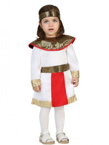Vit kostym med inspiration av Egypten bebis