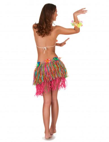 Flerfärgad Hawaii-kjol med blommor vuxen-2